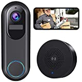 Wireless WiFi Doorbell Camera, Morecam WiFi Camera Video Doorbell with Chime,1080P HD, Motion Detection, Night Vision, 2-Way Audio, Cloud Storage, Easy Installation