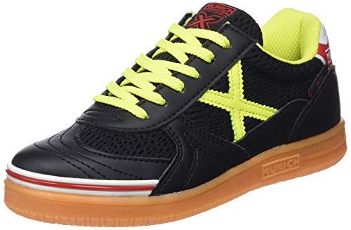 Munich G-3 Kid Indoor, Zapatillas de Deporte Unisex niño, Negro (Negro/Amarillo 874), 38 EU