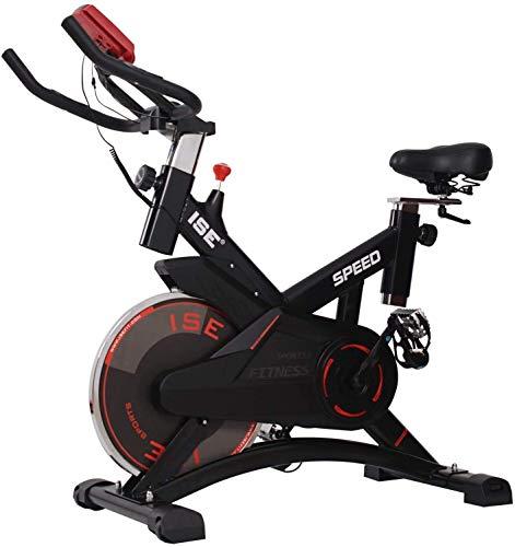 ISE Indoor Cycle Ergometer Heimtrainer 10kg Schwungrad Puls,LCD Anzeige,Armauflage,gepolsterte