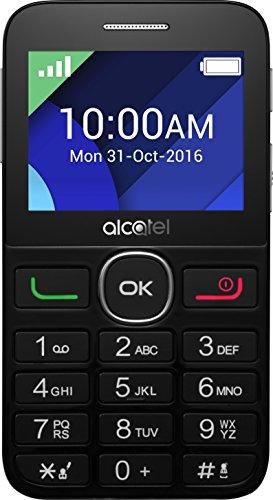 Alcatel 2008G-3BALDE1 Smartphone (6,1 cm (2,4 Zoll) Display, 16 GB Speicher) schwarz/Silber