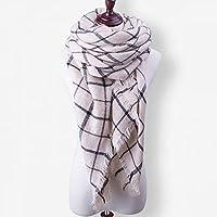 冬のスカーフトライアングルチェック柄カシミヤスカーフロングショールラップニットソフトスカーフ