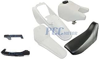 NEW Yamaha PW80 PW 80 TANK SEAT PLASTIC KIT W/ Chain Guard WHITE PS52