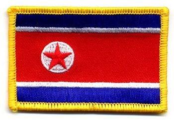 Flaggen Aufnäher Patch Nordkorea Fahne Flagge NEU