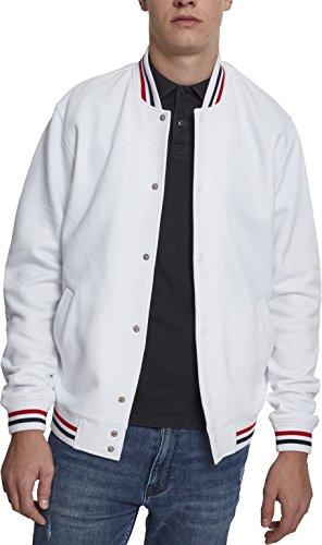 Urban Classics 3-Tone College Sweat Jacket Veste de Sport, Blanc/Bleu Marine, L Homme