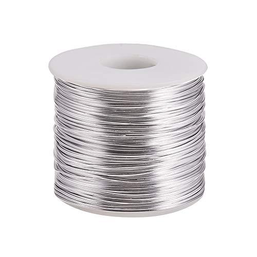 PandaHall Elite Alambre de aluminio anodizado de calibre 17 de aproximadamente 116 m, flexible, alambre de metal flexible, para manualidades, aretes, pulseras, joyería, manualidades