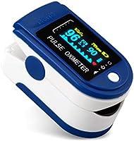 Goeco Pulsossimetro da Dito, Saturimetro Dito Portatile, con Allarme SPO2 Display OLED Ossimetro di Sangue per...