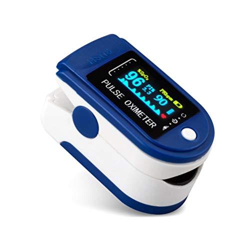 Goeco Pulsossimetro da Dito, Saturimetro Dito Portatile, con Allarme SPO2 Display OLED Ossimetro di...