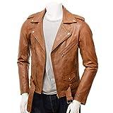 HI Class Men's Leather Jacket Tan