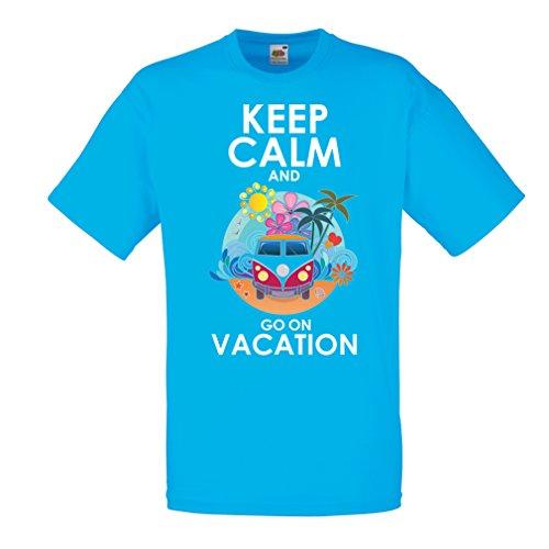 Camisetas Hombre IR de Vacaciones, Trajes Lindos, Ropa de Playa, Ropa de Resort (Medium Azul Multicolor)