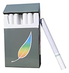 No Tobacco, No Nicotine Herbal Green Tea Cigarette Alternative 4 packs per 1 order - 20 cigs/pack Tobacco Free and Nicotine Free Regular Flavor Great Alternative. Quit Smoking