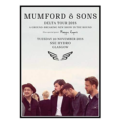 GUICAI Mumford & Sons Delta 2018/2019 Welt UK Tour Foto Leinwand Kunst Poster Druck Wohnzimmer Wohnkultur -50X70 cm Kein Rahmen 1 Stck