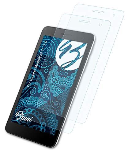 Bruni Schutzfolie kompatibel mit Huawei MediaPad T1 7.0 Folie, glasklare Bildschirmschutzfolie (2X)