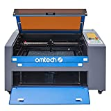 OMTech 55W CO2 Laser Engraver Cutter 16 x 24 Inch Laser Engraving Machine, USB Port, Red Dot Pointer, Built-in Exhaust, Ruida Control RDWorks V8 for Wood Glass Acrylic DIY Home Business