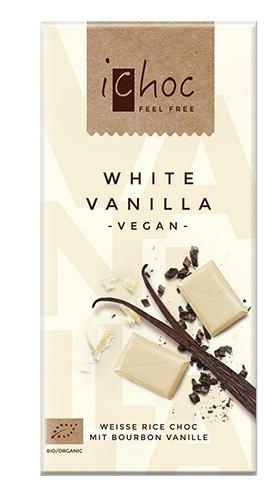 iChoc VEGAN Chocolate Bar 80g - 2.82Oz (White Vanilla)