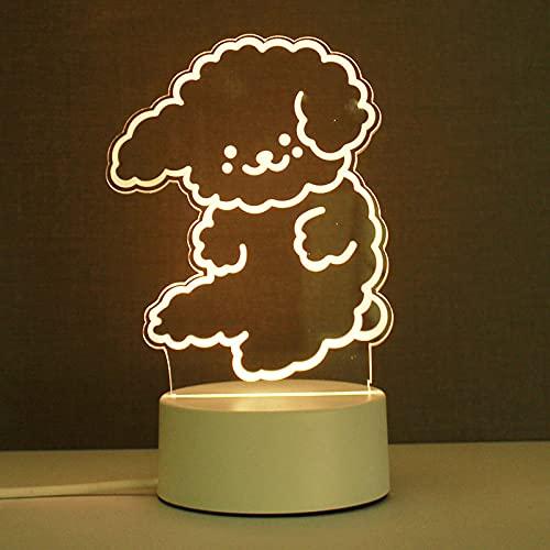 Geizland Luz nocturna 3D LED Smart Home Acrílico Atmósfera Lámpara USB Carga-USB de tres colores (5W)_noob