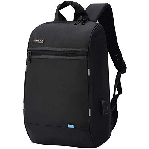Artistix Talon Laptop Backpack Bag, Anti-Theft Design, with USB Charging Port, Water Resistance (40 cm_black)