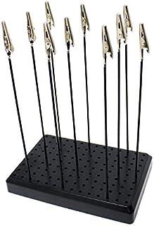 ABEST Haute Qualité 10 Pcs Alligator Clip Sticks avec Base Titulaire pour Aérographe Hobby Modèle Pièces Modèles Assembler