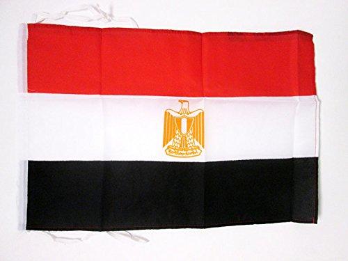 AZ FLAG Flagge ÄGYPTEN 45x30cm mit Kordel - ARABISCHE Republik ÄGYPTEN Fahne 30 x 45 cm - flaggen Top Qualität