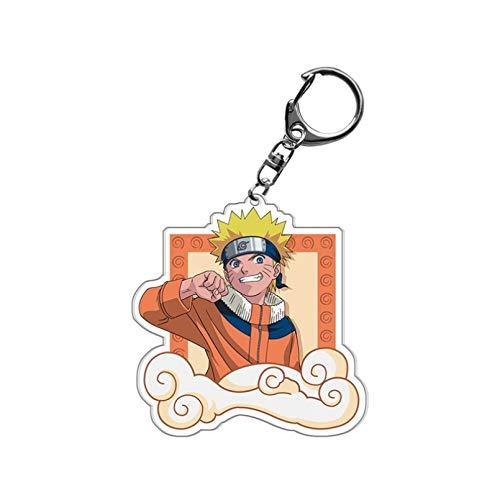 JINGRU Anime Naruto Shippuden Llavero Soporte Kakashi Sasuke Accesorios de Cosplay Llavero acrílico Mejor Regalo para niños niñas Chaveiro