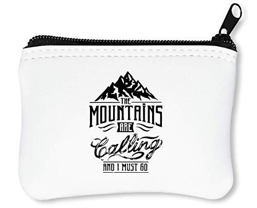 Mountains Are Calling I Must Go Cool Reißverschluss-Geldbörse Brieftasche Geldbörse