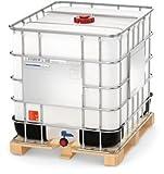 Conteneur iBC sur palette de 1000 litres en polyéthylène de haute densité (hDPE) (hochdruckgereinigt état occasion