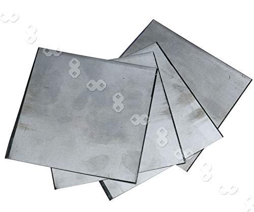 5pcs Zink Platte Flach Blech für Wissenschafts Labor 100x100x0.2mm hoher Reinheit zum Basteln & Haushalt & Werkstatt