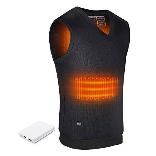 Rrtizan Heated Vest, USB Electric Heating Vest, Lightweight Warm Vest for Men Women Outdoor Black