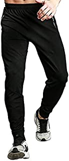 TBMPOY Men's Athletic Running Sport Jogger Pants with Zipper Pockets