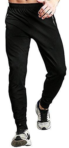 TBMPOY - Pantalones deportivos para hombre, con bolsillos con cierre, Straight, M
