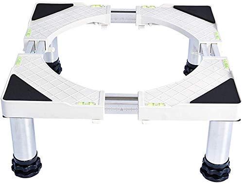 CHGDFQ Soporte automático para lavadora de acero inoxidable, soporte para frigorífico (color: 4 pies, tamaño: 14 – 17 cm)