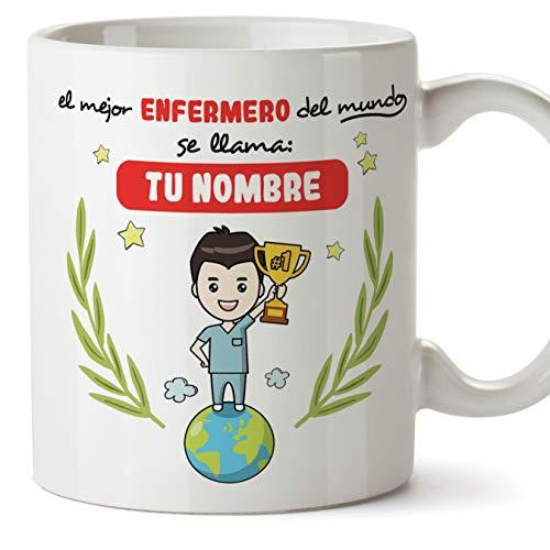 MUGFFINS Enfermero Tazas Originales Personalizadas con tu Nombre de café y Desayuno...