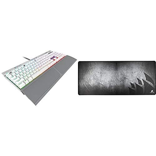 CORSAIR K70 RGB MK.2 SE Mechanical RAPIDFIRE Gaming Keyboard - PBT Double-Shot Keycaps - Cherry MX Speed and CORSAIR MM350 - Premium Anti-Fray Extra Thick Cloth Gaming Mouse Pad