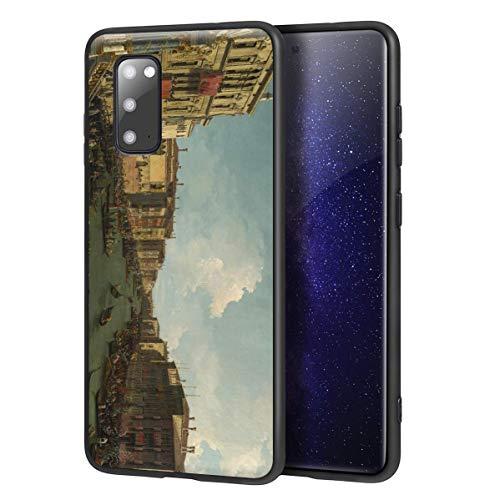 Berkin Arts Canaletto für Samsung Galaxy S20 Hülle/Kunst Handyhülle/Giclée UV Druck auf der Handyabdeckung(Venedig A Regatta On Das Grand Kanal)