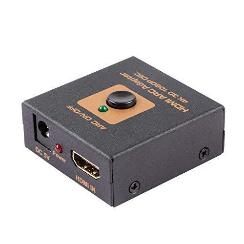 Adattatore HDMI ARC. Da HDMI a HDMI + ARC Converter. ARC supportato (Audio Return Channel) da collegare con il vecchio ricevitore AV che non supporta ARC