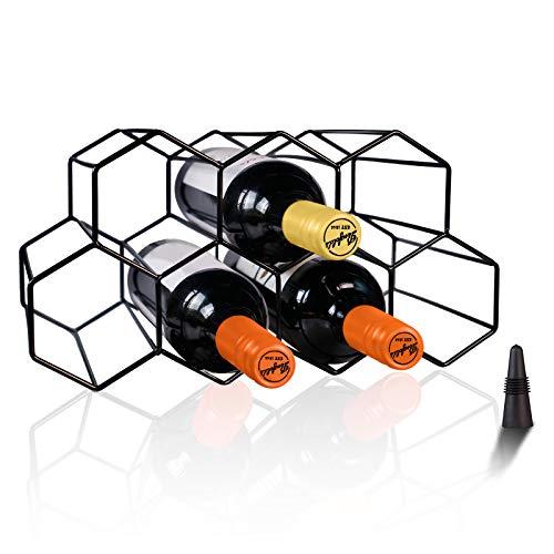 Wine Racks Countertop Wine Rack, Wine Bottle Holder, Small Wine Rack Freestanding Floor, Wine Holders Stands for Counter Wine Rack Cabinet, Wine Storage Racks, Metal Wine Rack Table Top Kitchen