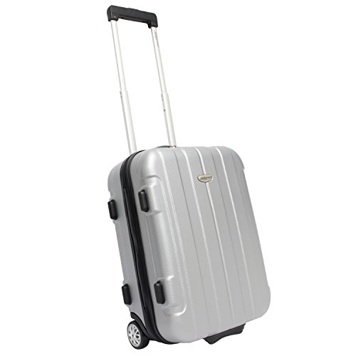 Traveler's Choice Rome Hardside Lightweight Upright Luggage, Gray, Carry-on 21-Inch