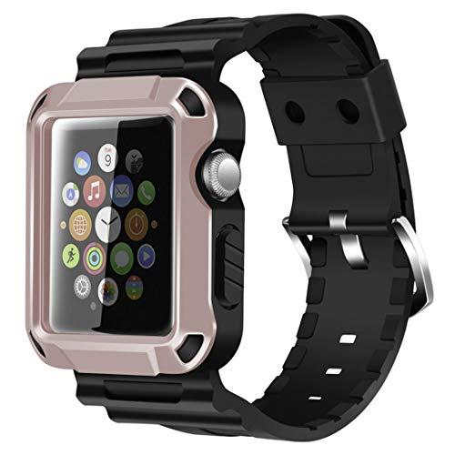 iitee Robusto iWatch Protettivo e Fascia da Polso con Protezione Schermo Integrata per Apple Watch Series 3/2/1