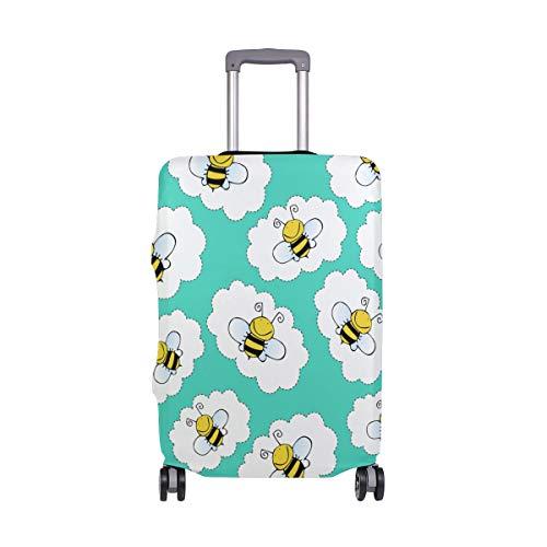 ALINLO - Funda Protectora para Maleta de Viaje con diseño de Abejas para Equipaje de 18 a 32 Pulgadas, Multicolor (Multicolor) - shboOIB6730
