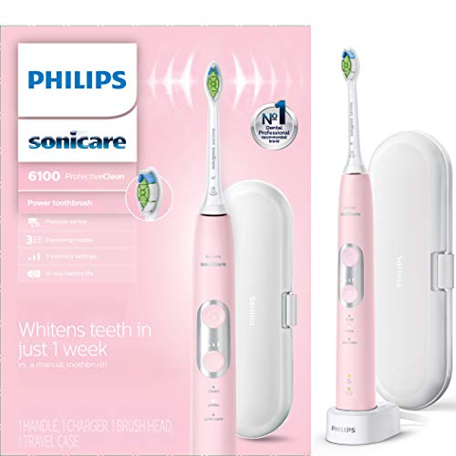 Philips Sonicare ProtectiveClean 6100 Rechargeable Electric Toothbrush, Pink HX6876/21