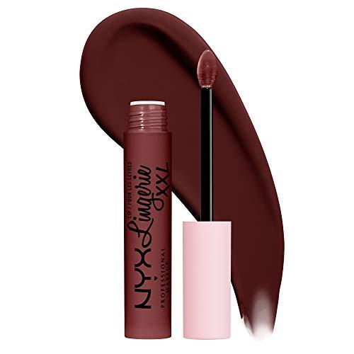 NYX PROFESSIONAL MAKEUP Lip Lingerie XXL Matte Liquid Lipstick - Deep Mesh (Deep Chocolate Brown)