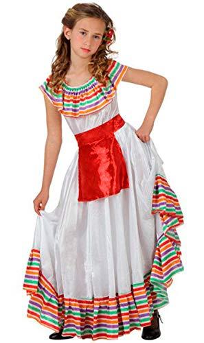 ATOSA disfraz mejicana niña infantil blanco 7 a 9 años