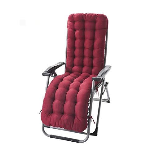 XXF-Shop Lounge Chair Cushion Sedia A Dondolo Ispessimento Cuscino Antiscivolo Cuscino Cuscino Monopezzo Rattan Bamboo Schienale Cuscino per Sedie Terrazza All'aperto Patio (Color : Burgundy)