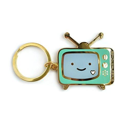 Night Owl Paper Goods Binge Watcher Enamel Keychain, Gold