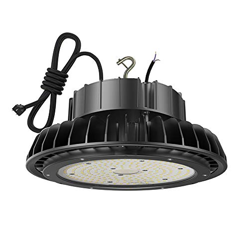 Adiding High Bay Light 100W UFO LED Highbay Lighting 130Lm/W LIFUD Driver Dimmable 5000K, 13000 Lumens Samsung LED for Garage Gym Workshop Warehouse, DLC ETL Listed - Rotatable Bracket