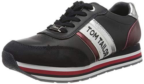TOM TAILOR Damen 8095504 Sneaker, Blau (Navy 00003), 39 EU