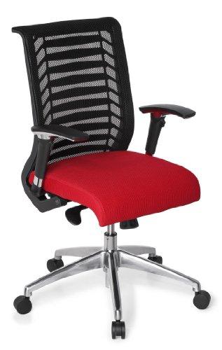hjh OFFICE 707210 Bürostuhl/Chefsessel Avatar Pro, schwarz/rot