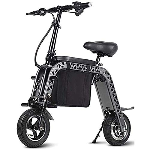 MMJC Elektro-Scooter, Easy Folding & Carry Entwurf, 10 Zoll bis zu 25 km/h, Motorroller geeignet für Erwachsene und Teenager,Schwarz