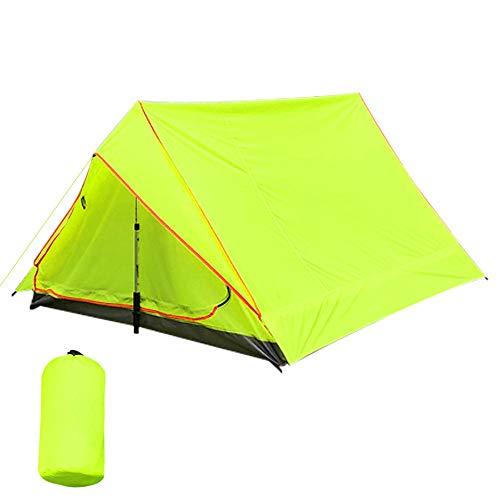 GDD Tienda de campaña para playa, ultraligera, para 2 personas, al aire libre, playa, pesca, impermeable, portátil, con protección solar, 1,5 m, color verde