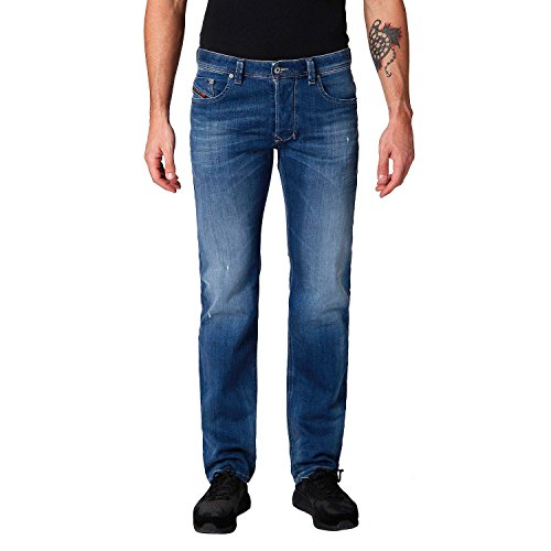 Diesel Herren Straight Jeans Laekee-Beex, Blau (Denim 01), Gr. W33/L34