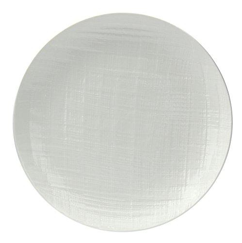 Tognana Victoria Set aus 6 flachen Tellern, Porzellan, Weiß, 6 Stück